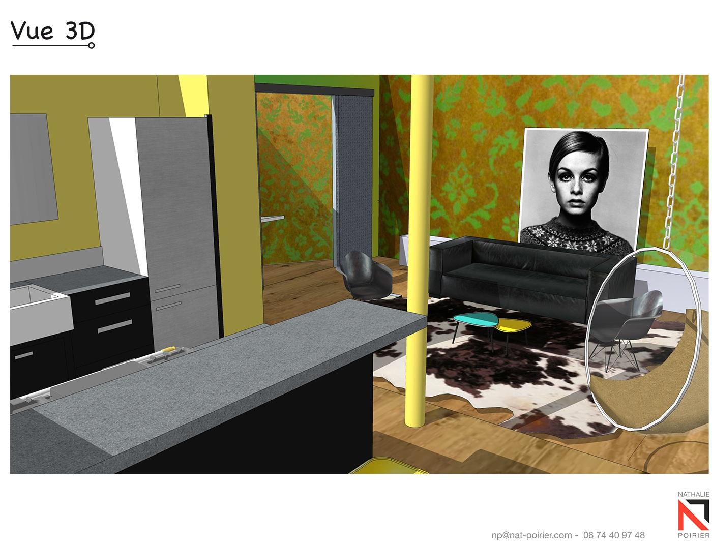 design d 39 espace nathalie poirier. Black Bedroom Furniture Sets. Home Design Ideas